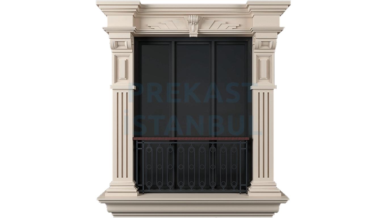 prekast panel kolon süslemeli tasarım