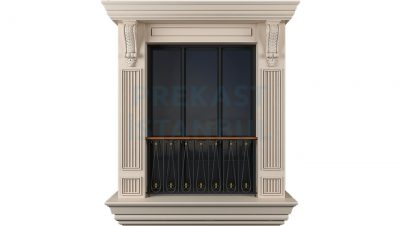 prekast cephe paneli kolon tasarımlı fransız balkonlu