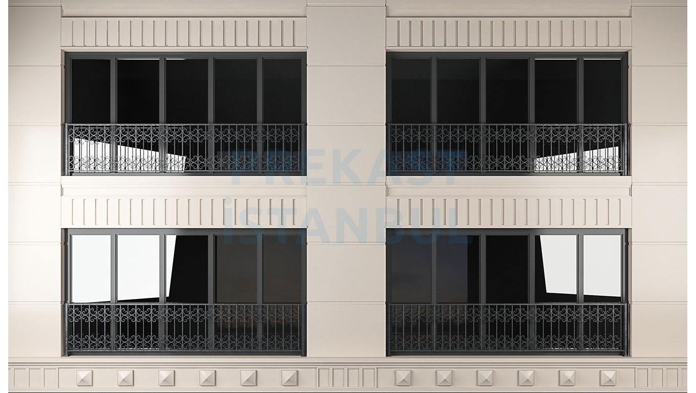 dört pencere tek prekast panel uygulaması