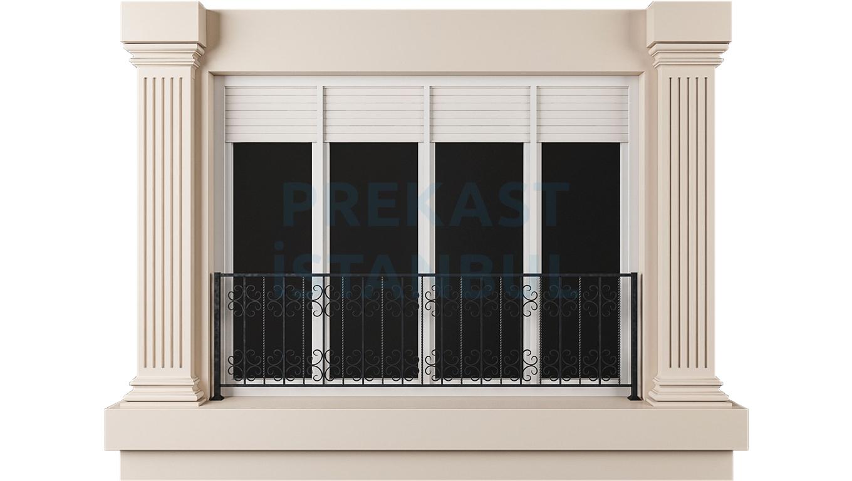 prekast panel balkon kolon süslemeli