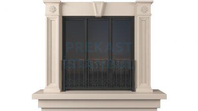 prekast panel kilit taşlı kolonlu