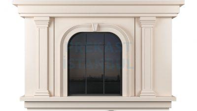prekast panel pencere kolon süslemeli