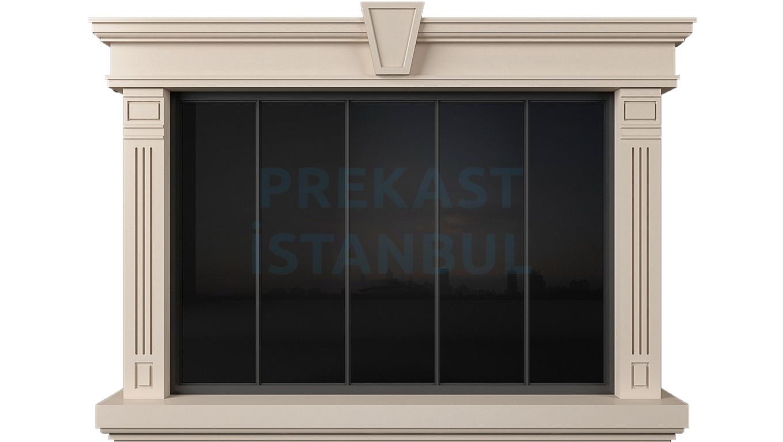 prekast pencere panel kilit taşlı