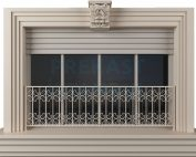 prekast kilit taşlı fransız balkon panel