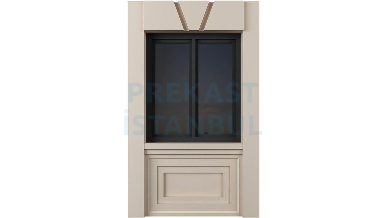 pencereli kiriş ve alt süslemeli panel