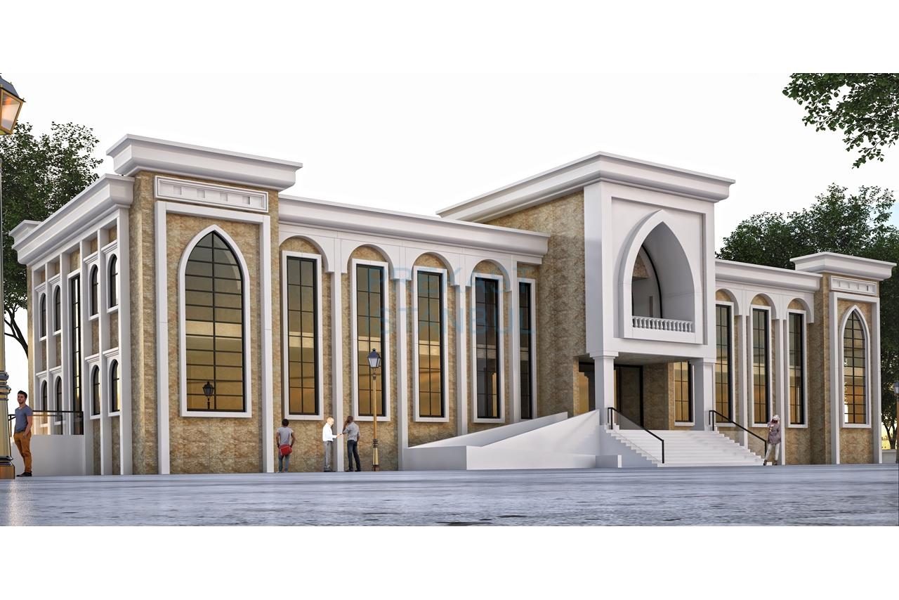 kamu binası tasarım 3d prekast görselleştirme
