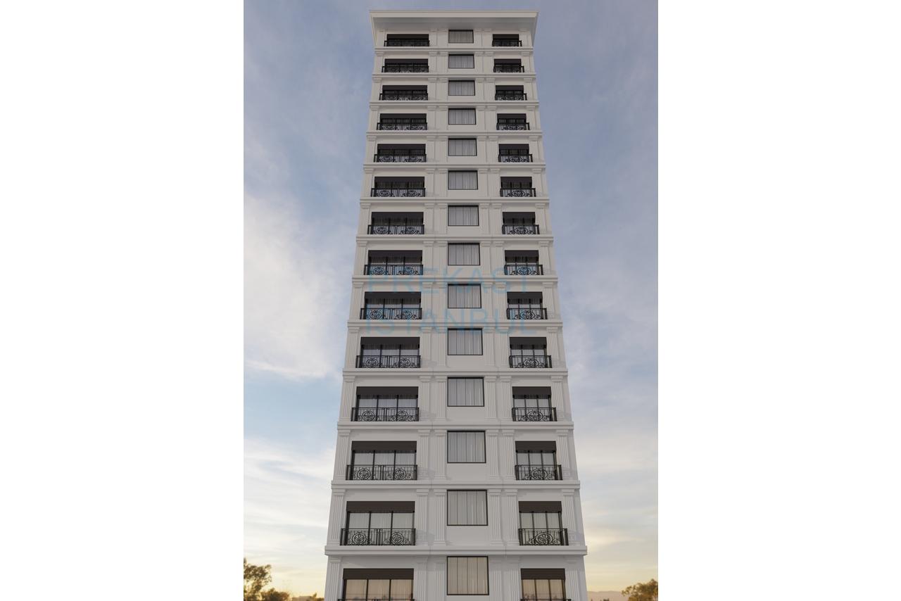 apartman prekast 3d tasarım görselleştirme