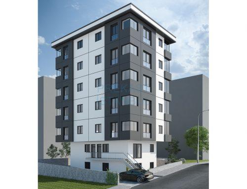 Apartman Prekast 3D Tasarım C017