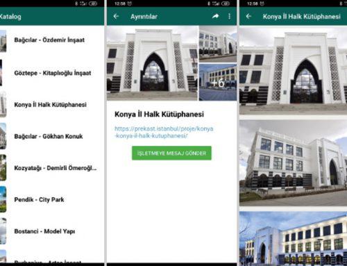 WhatsApp Katalog İle Prekast Çalışmalarımıza Her Zaman Erişilebilirsiniz