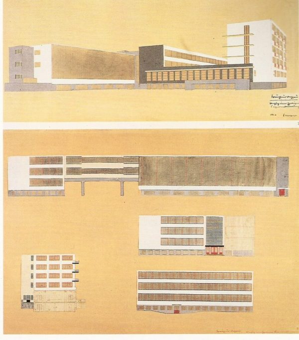 The Bauhaus Building in Dessau by Walter Gropius