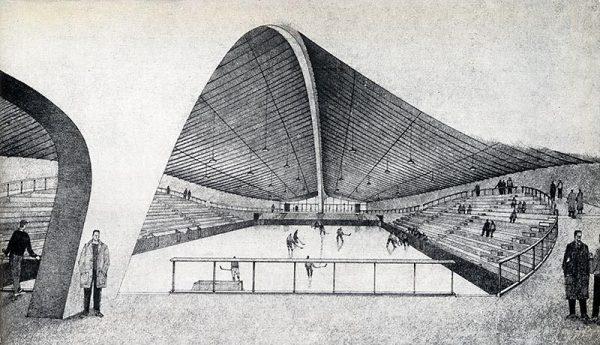 David S. Ingalls Rink by Eero Saarinen