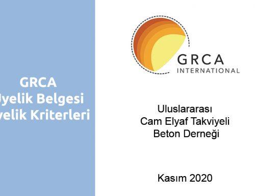 GRCA Üyelik Belgeleri ve Kriterleri
